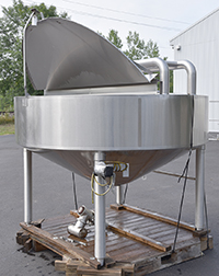 used, Chester Jensen Model X70N30 Cooker-Cooler, 300 Gallon Steam Jacketed Kettle, Alard item Y3593