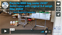 New Packrite Bandrite 6000 BAND SEALER with bulk and dribble filler DEMO VIDEO; Alard items Z5538 and Z4387