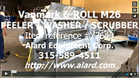 used 6 ROLL BRUSH WASHER / SCRUBBER, abrasive peeler, continuous, stainless steel, Vanmark Model M26, Alard item Y3640