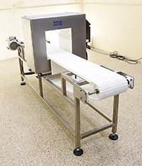 Food METAL DETECTOR with belt, 31x12 opening, Cassel, new in stock at Alard item Y3951