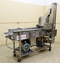 used STEIN BATTER & BREADING LINE, 16 inch, electric drive, (1) batter applicator with (2) breading applicators, Alard item Y4248