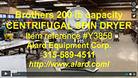 used, BROTHERS LEGROW CENTRIFUGAL VEGETABLE SPIN DRYER, large 200 lb capacity, Alard item Y3850