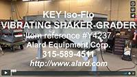 used KEY ISO-FLO VIBRATING DEWATERING SHAKER / VIBRATORY GRADER EVEN FEED CONVEYOR, Alard item Y4237