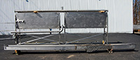 used, STAINLESS STEEL OPEN CHILL FLUME / OPEN WASH FLUME with PLATE CHILLER, Alard item Y0799