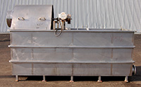 used, FLUME WATER COOLING TANK / WATER CHILLER TANK with SCAVENGER REEL, Alard item Y1572