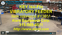used KEY ISO-FLO VIBRATING FEEDER / VIBRATORY FEED CONVEYOR, food grade, all stainless steel, Alard item Y3651