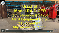 used URSCHEL Model RA DICER, Alard item Y4254