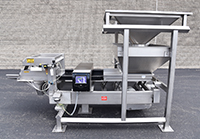 used, FORTRESS FOOD GRADE METAL DETECTOR with VIBRATING CONVEYOR, 24x3, stainless steel, Alard item Y4286