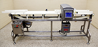used, SAFELINE FOOD GRADE METAL DETECTOR with conveyor belt, 8x4, stainless steel, Alard item Y4299