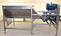 Reconditioned CORNELL 4 inch STAINLESS STEEL FOOD PUMP with FEED TANK and DRIVE, Alard item Y3807
