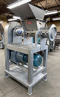 Used RIETZ EXTRUCTOR Model RE10, frozen block grinder, Alard item Y3970