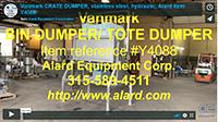 used, VANMARK STAINLESS STEEL BIN / TOTE DUMPER, Alard item Y4088