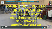 used, 10 ROLL PEELER, SCRUBBER, WASHER, HIGH CAPACITY, continuous, all stainless steel, Alard item Y4256