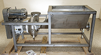 NEW CORNELL 4 inch STAINLESS STEEL FOOD PUMP with FEED TANK and DRIVE, Alard item Y4339