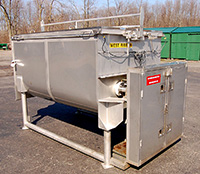 used, A & M PROCESS EQUIPMENT DRB600 JACKETED STAINLESS STEEL 60 CUBIC FOOT DOUBLE RIBBON BLENDER, Alard item Y0888