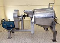used, Langsenkamp Model A EZ-Adjust paddle pulper / FINISHER, all stainless steel, Alard item Y1257