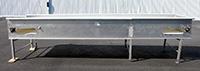 used, FOOD GRADE BELT CONVEYOR, INSPECTION CONVEYOR, 15X4, stainless steel, Alard item Y3652