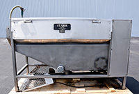 used, STARR 4 ROLL CONTINUOUS PEELER-WASHER-SCRUBBER, with full length  mobilizer, stainless steel, Alard item Y3857