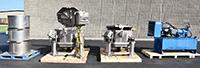 used, TWO HEINZEN SD150 SPIN DRYERS, with hydraulic pack, Alard item Y4372, Y4425, Y4426