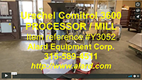 Refurbished, URSCHEL COMITROL 3600 PROCESSOR, hopper - screw feed, 10HP, Alard item Y3052