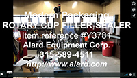 used, ROTARY CUP FILLER, TUB FILLER, Modern Packaging SR8, Alard item Y3781