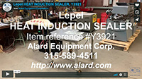 used, Lepel HEAT INDUCTION CAP SEALER Alard item Y3921