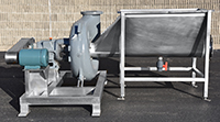used, Cornell Model 8NHPP-F18K 8-inch HYDRO TRANSPORT FOOD PUMP with STAINLESS STEEL VORTEX TANK and MOTOR-DRIVE, Alard item Y4325