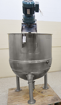 used, GROEN INA/2-200, 200 gallon STEAM JACKETED KETTLE with INCLINED SCRAPER-AGITATOR, Alard item Y4397