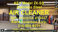 used, KEY 2XSS AIR CLEANER, stainless steel, Alard item Y4447