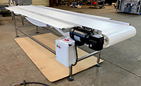 NEW FOOD GRADE FRUIT AND VEGETABLE INSPECTION CONVEYOR, 12x24, stainless steel, Alard item Y4502