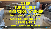 used, TURBULENT FLOW WASHER, fruit and vegetable WASH FLUME, NSEP Helical Wash System, Alard item Y4178