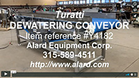 used, Turatti Model 1580-17-000 DEWATERING CONVEYOR, Alard item Y4182