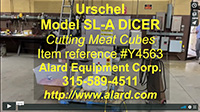 Refurbished, Urschel Model SL-A MEAT DICER, strip cutter, slicer, Alard item Y4563