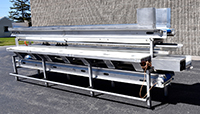 used, 3-LEVEL INSPECTION BELT / CORING CONVEYOR / TRIM TABLE, FRUIT and VEGETABLE PACKING CONVEYOR, Alard item Y4318