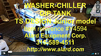used, T.S. DESIGNS JR. WASH & CHILL IMMERSION WASHER-CHILLER, dip tank, with CONVEYOR belt discharge, all stainless steel, Alard item Y4594