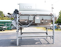 used, Lyco VAPOR-FLOW BLANCHER, 60 inch diameter by 8 feet long, USDA sanitary stainless steel, Alard item Y4416