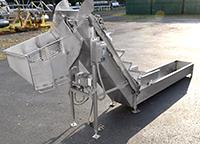 Used, PEASE APPLE IMMERSION WASHER / DIP TANK with ELEVATING DISCHARGE CONVEYOR, Alard item Y4280