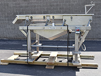 used, Commercial VIBRATING DEWATERING SHAKER, 72x24, food grade, stainless steel, Alard item Y4940